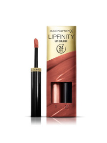 Max Factor Lipfinity Lip Colour Lipstick, 2-step Long Lasting, 070 Spicy, 2.3 ml + 1.9 g