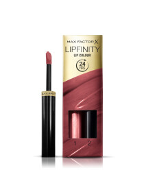 Max Factor Lipfinity Lip Colour Lipstick, 2-step Long Lasting, 108 Frivolous, 2.3 ml + 1.9 g