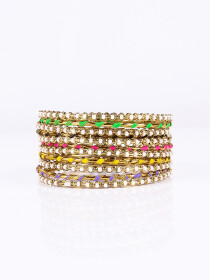 Glistening Multi Stone Studded Bangle