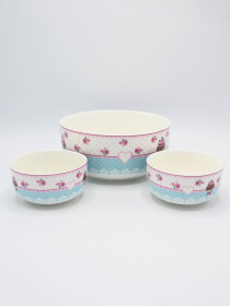 Multi Color Fancy Soup Set Ceramics 14Pcs