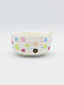 Multi Color Dotted Soup Set Ceramics 14Pcs