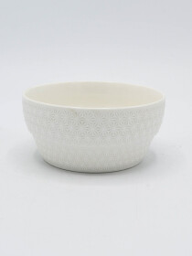 White 12Pcs Serving Bowl Set Ceramics with Soup Spoons