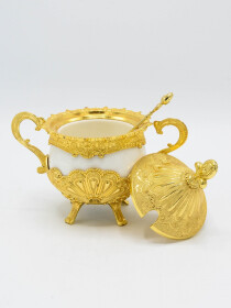Gold Fancy Sugar Pot