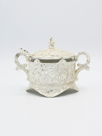 Silver Fancy Sugar Pot