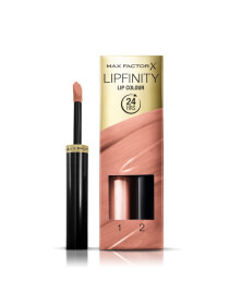 Max Factor Lipfinity Lip Colour Lipstick, 2-step Long Lasting, 006 Always Delicate, 2.3 ml + 1.9 g