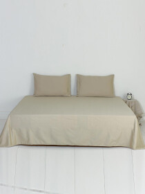 Olive Plain Bed Sheet