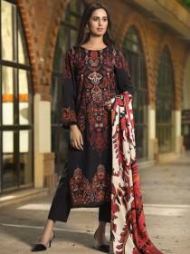 Black 2 Piece Khaddar Suit