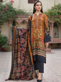 Rust 2 Piece Khaddar Suit