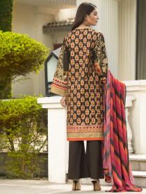 Brown 2 Piece Winter Cotton Suit