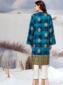 Blue Slub Khaddar Shirt