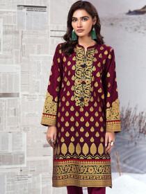 Plum Slub Khaddar Shirt
