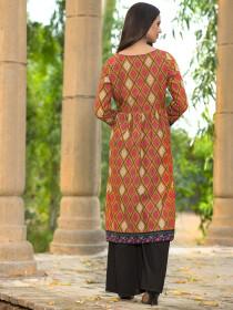 Ochre Slub Khaddar Shirt