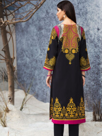 Black Slub Khaddar Shirt