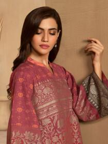 Red Slub Khaddar Shirt
