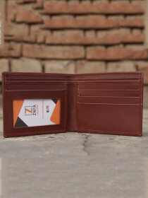Bi Fold Leather Wallet with ID Window