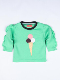 Ice cream logo Crew neck