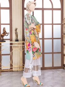 Multi-Colored Digital Printed Unstitched Khaddar Shirt