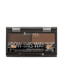 Rimmel London, Brow This Way Eyebrow Sculpting Kit, Dark Brown