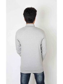 Glit grey Mock Neck