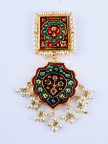 Kundan Meenakari Earrings