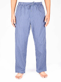 Blue Check Cotton Baggy Pajamas
