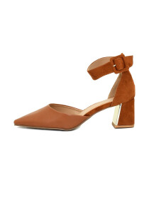 Brown Flare Heel