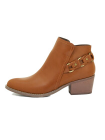 Brown Mid-Top Ankle Boots