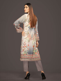 Multi Colored Digital Printed & Embroidered Linen Shirt