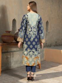 Blue Printed Jacquard Shirt