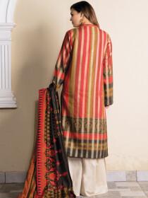 Multi Colored Striped Jacquard 2 Piece Suit