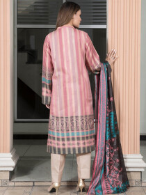 Pink Striped  Jacquard 2 Piece Suit