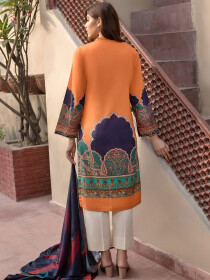 Multi Colored Winter Cotton 2 Piece Suit