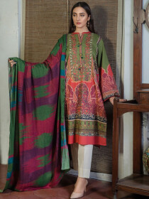 Multi Colored Winter Cotton 2 Piece Suit