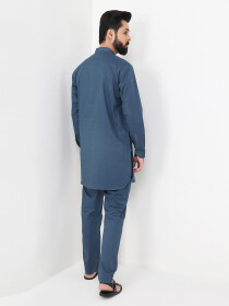 Zinc Cotton Kurta Trouser Suit