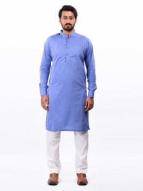 Blue Cotton Kurta