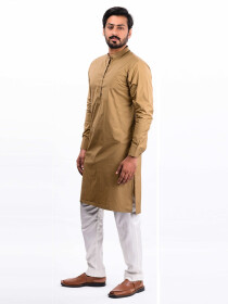 Brown Cotton Kurta