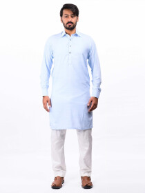 Sky Blue Cotton Kurta