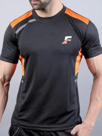 Black & Orange Actifit T-Shirt