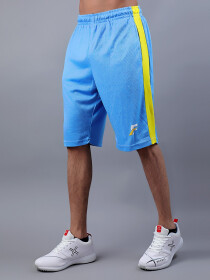 Sky Blue & Yellow Actifit T-Shirt and Shorts
