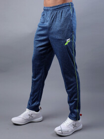 FIREOX  Carolina Blue & Green Polyester Active-wear Trouser for Men