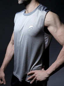 White/Grey Men's Gym Tank Tops