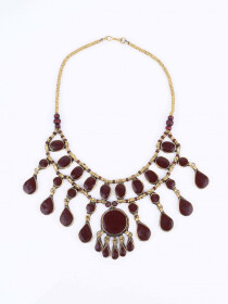 Coffee Brown Three Layered Necklace