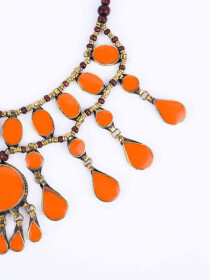 Orange Three Layered Necklace