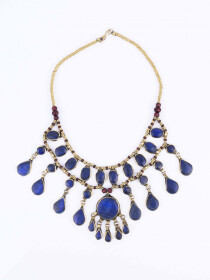 Blue Three Layered Necklace