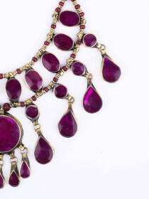 Purple Three Layered Necklace