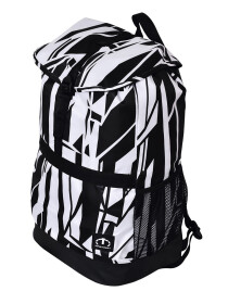 WHITE & BLACK STRIPES LAPTOP BACKPACK