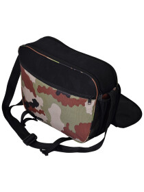 BLACK CAMO MESSENGER BAG