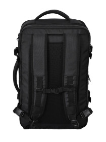 BLACK TRAVEL HYBRID DUFFLE BACKPACK