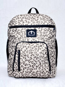 OFF WHITE & BLACK CHEETAH BACKPACK FOR WOMEN