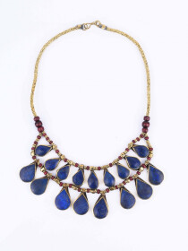 Dark Blue Two Layered Necklace